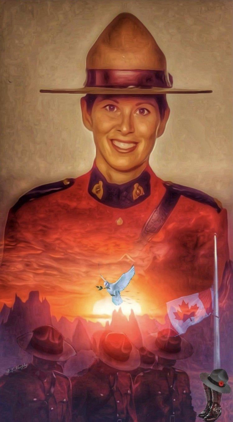 Constable Stevenson portrait by Rolanda Murphy